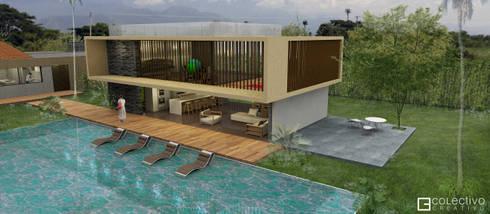 Casa La Morada HV: Gimnasios  de estilo  por COLECTIVO CREATIVO