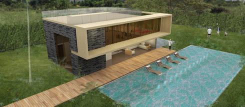 Casa La Morada HV: Piscinas de estilo moderno por COLECTIVO CREATIVO