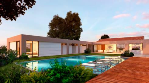Casa La Morada HV: Jardines de estilo moderno por COLECTIVO CREATIVO