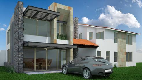 Casa-Club 001: Casas de estilo moderno por Jeost Arquitectura