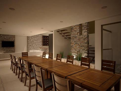 Casa-Club 001: Comedores de estilo moderno por Jeost Arquitectura