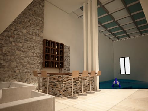 Casa-Club 001: Cavas de estilo moderno por Jeost Arquitectura