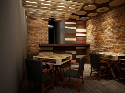 Pizzeria De Carlo:  de estilo  por Jeost Arquitectura