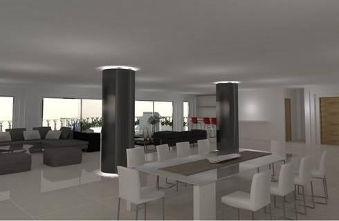 Santorini : Comedores de estilo moderno por COLECTIVO CREATIVO