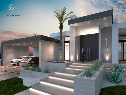 Residencia 118 de elias braun architecture homify for Fachadas de casas modernas en hermosillo