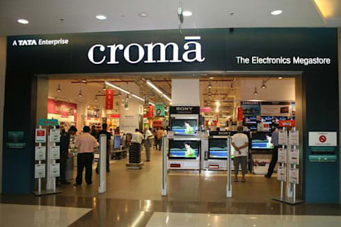 Croma Showroom:  Office spaces & stores  by Project Concepts