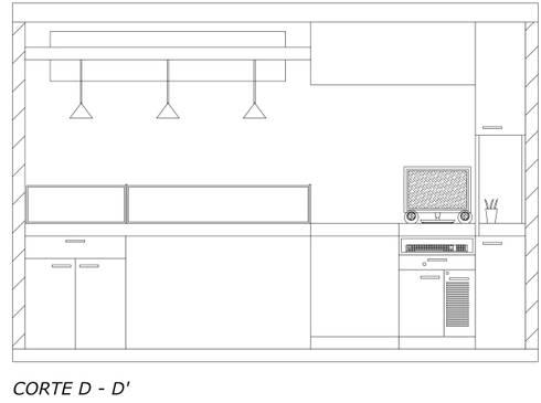Vista interna atención al cliente: Espacios comerciales de estilo  por Loft 5101 F.P.