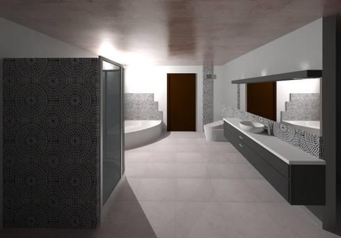 Vista interna de la sala de baño: Baños de estilo moderno por Diseño Store