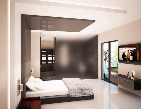 RECAMARA:  de estilo  por PORTO Arquitectura + Diseño de Interiores