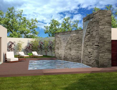 ALBERCA :  de estilo  por PORTO Arquitectura + Diseño de Interiores