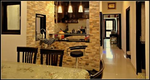 kitchen & Passage:  Corridor, hallway & stairs  by Mehak Lochan Design