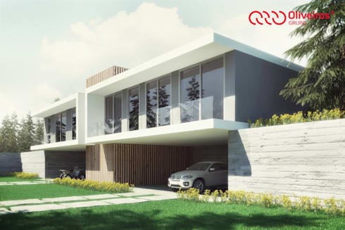 1325-MP-0813: Casas modernas por Oliveiros Grupo
