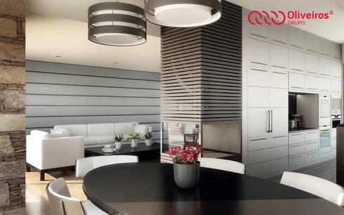 1328-VF-0813: Salas de jantar modernas por Oliveiros Grupo