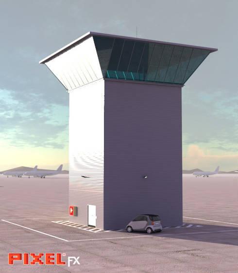 Torre de controlo - Angola:   por PIXELfx