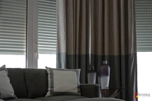Cortina europea: Puertas y ventanas de estilo moderno por Fensteq