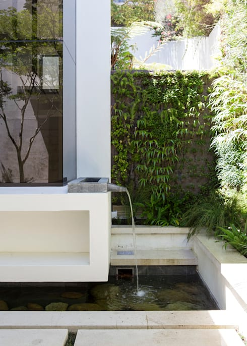 The water feature:  Garden by Jenny Mills Architects