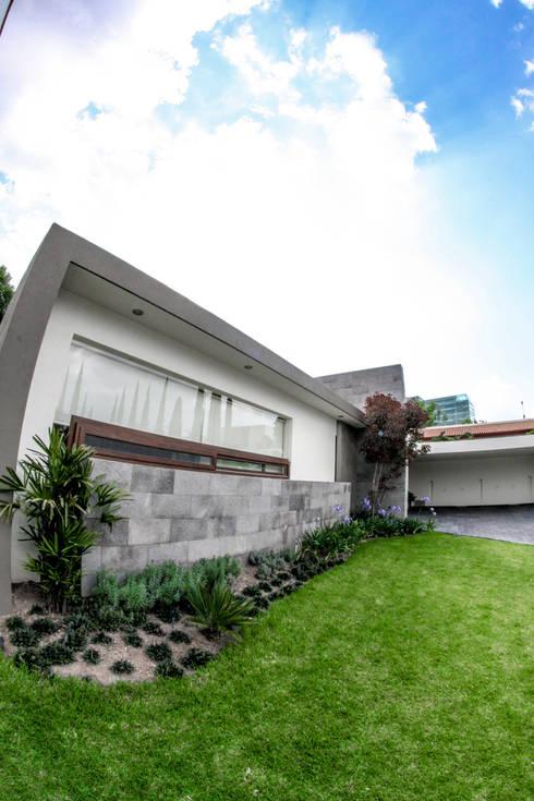 San Angel: Jardines de estilo minimalista por 2M Arquitectura