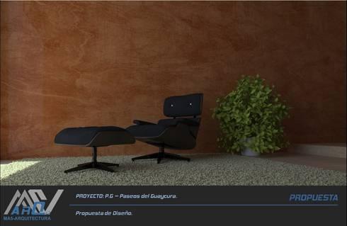 P. G. – Paseos del Guaycura: Salas de estilo moderno por MA5-Arquitectura