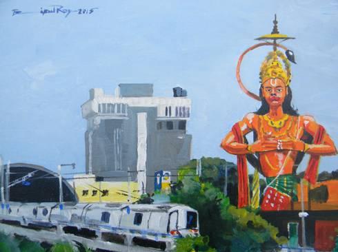Busy Delhi :  Artwork by Indian Art Ideas