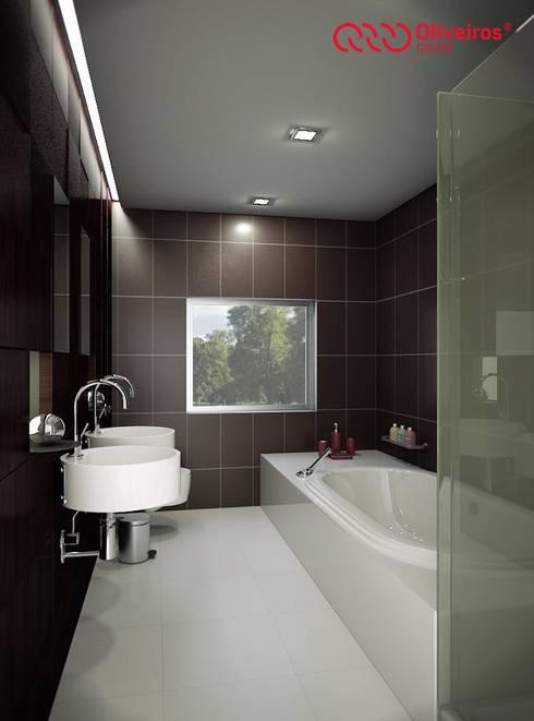 1121-MP-1209: Casas de banho modernas por Oliveiros Grupo