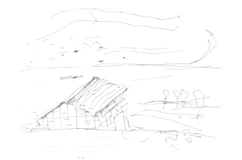 Sketch:   por RLA | RICHARD LOUREIRO ARCHITECTS