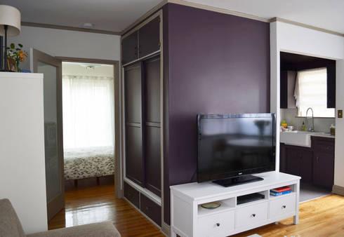 Sunnynook Decor: Salas multimedia de estilo moderno por Erika Winters Design