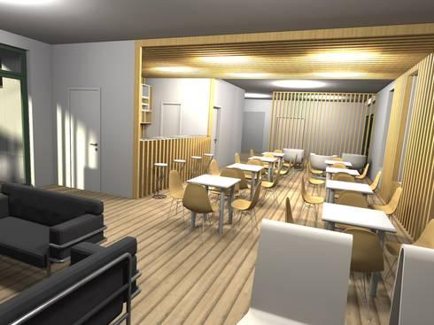 Restaurante – Bar <q>Meet You</q>: Espaços de restauração  por Traço M - Arquitectura