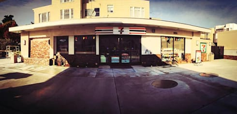 7 Eleven - 76 Gas Station San Francisco: Casas de estilo moderno por Erika Winters Design