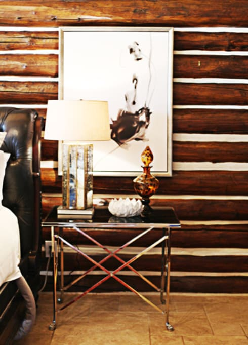 Lodge Living: rustic Bedroom by The Design Shoppe