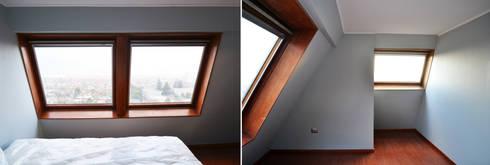 DEPTO. PSV.: Dormitorios de estilo minimalista por ESTUDIO BASE ARQUITECTOS