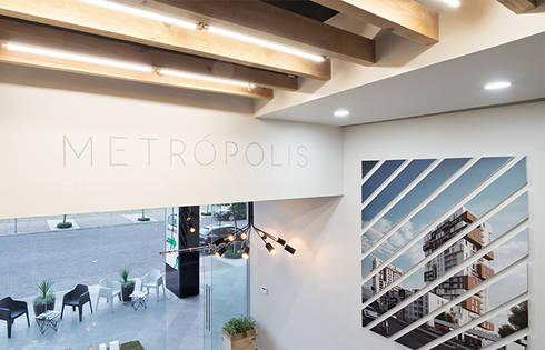 Showroom Punta Cascatta - Detalle 02: Oficinas y tiendas de estilo  por MX Taller de Arquitectura & Diseño