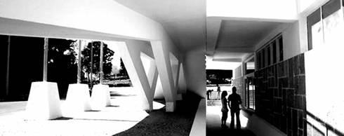 REESTRUTURAÇÃO DO COMPLEXO DE PISCINAS MUNICIPAIS - ÉVORA: Piscinas modernas por atelier mais - arquitetura e design