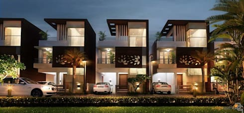 Signature Villas by Altitude Infrastructures: modern Houses by Design Quest Architects