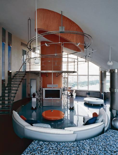 Лестничный холл: Коридор и прихожая в . Автор – Архитектурное бюро 'Дом-А'
