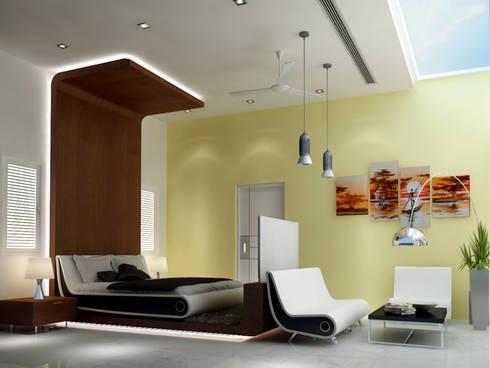 Residence @ vizag: modern Bedroom by SunDial Associates