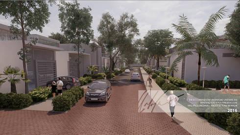 Areas Comunes de Urbanismo Unifamiliar- PERÚ:  de estilo  por Arq.AngelMedina+