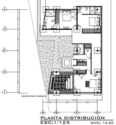 Casa ZEN: Cuartos de estilo moderno por Arquitecto Eduardo Carrasquero