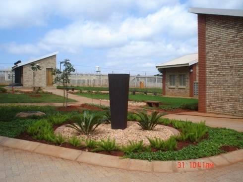 Community Clinic Landscaping:   by Mohlolo Landscape Architects