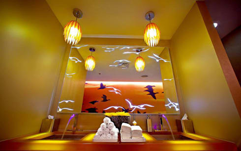 Customized Glass LED Work:  Artwork by Innovate Interiors & Fabricators