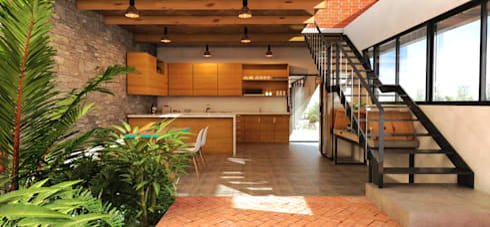 interior 1: Cocinas de estilo moderno por Vintark arquitectura