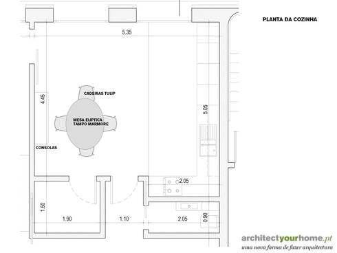 Uma cozinha renovada:   por Architect Your Home