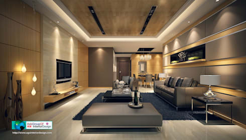 Make Your Home Look Expensive & Beautiful: asian Living room by Axis Group Of Interior Design