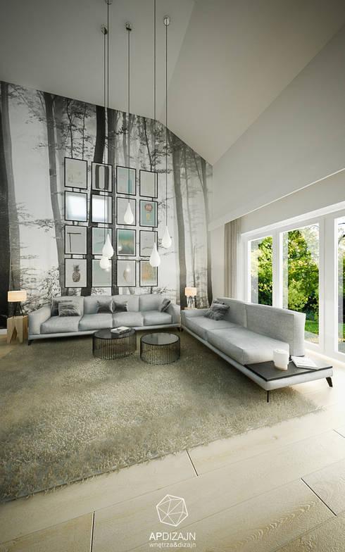 Ze Skandynawią w tle: styl , w kategorii Salon zaprojektowany przez AP DIZAJN - wnętrza & dizajn