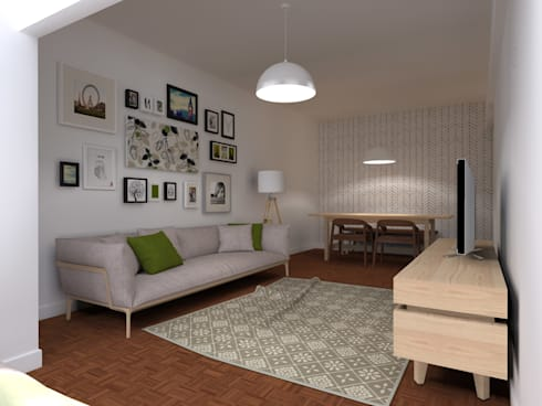 Casa da Margarida: Salas de estar escandinavas por Homestories