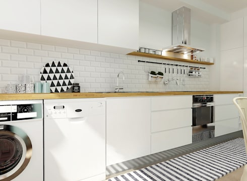 Casa do Pedro e da Sónia: Cozinhas escandinavas por Homestories
