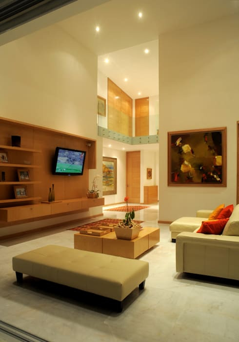 modern Living room by Agraz Arquitectos S.C.