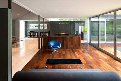 Casa Abierta: modern Living room by KUBE Architecture
