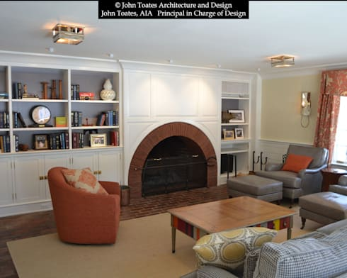 Family Room: classic Living room by John Toates Architecture and Design