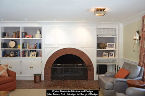 Fireplace: classic Living room by John Toates Architecture and Design