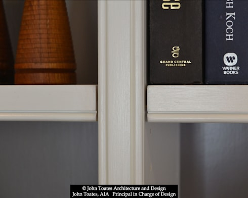 Shelving Detail: classic Living room by John Toates Architecture and Design